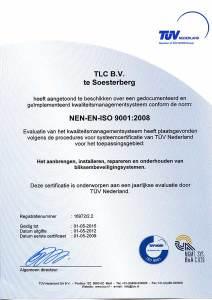 ISO 9001 en VCA Certificaat TLC b.v. 2012