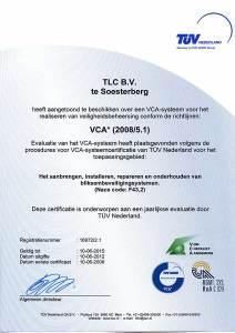 ISO en VCA Certificaat TLC 2012